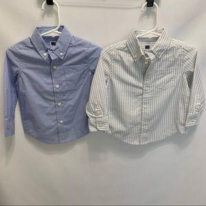 Janie and Jack Button Down Shirt Bundle 12-18M